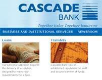 Cascade Bank website