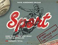 Vintage Sport Illustration