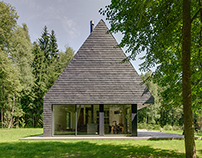 Wood-lined House in the Countryside of Lithuania