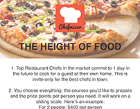 Fiverr Order: Flyers for Chefmixer's The Height of Food