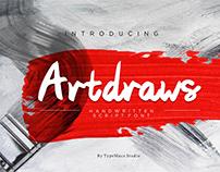 Artdraws Font | An Artistic Handdrawn Font