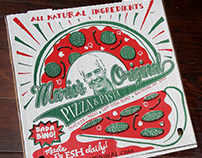 Custom Pizza Box Illustration / Surface Pattern Design