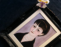 Dorothy Parker Literary Portrait Painting