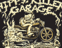 Hippy Killer Garage T-shirt Design