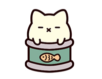 Can Cats - Character Design and LINE stickers