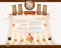 Hey Cupcake Web Layout