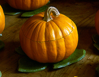 Pumpkin Bowls and Tureen