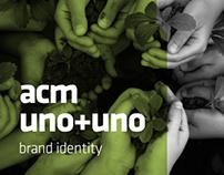 acm | uno+uno=todos | brand identity