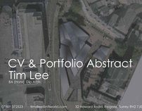 Tim Lee CV & portfolio abstract