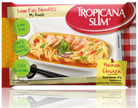 Tropicana Slim Low Fat Noodles Packaging