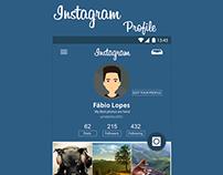 Instagram Redesign. New concept. UI/UX Material Design.