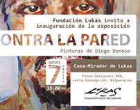 """Invitación de la exposición """"Contra la Pared"""""""