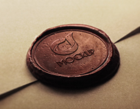 Free Wax Stamp Logo Mock-up Template