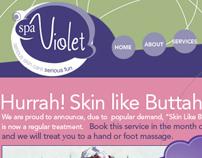 spaViolet debuts website design