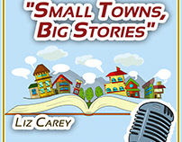 """Small Towns, Big Stories"" , a podcast illustration"