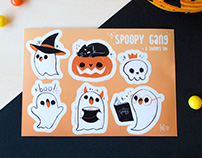 Stickers: Halloween spoopy gang!