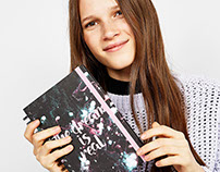 Galaxy notebook for Bershka Stationary Collection