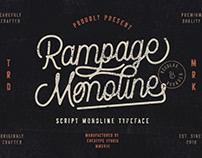 RAMPAGE MONOLINE SCRIPT - FREE FONT