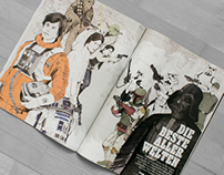 ROLLING STONE MAGAZINE STAR WARS ILLUSTRATIONS