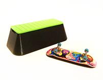 SkateBox Loaf - Skateable Fingerboard Case (2 Boards)