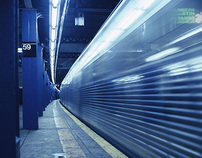 New York - subway stops and breakfast cars