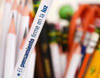 lápices con mensaje