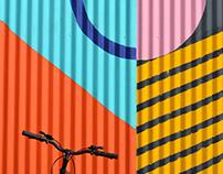 """Mural para """"La Fábrica Patio Outlet"""""""