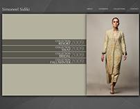 Simoneel Sidiki - Fashion store website