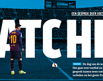 Spread for Voetbal International Pro Booklet