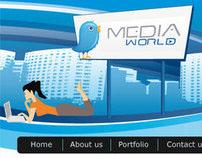Media world website mockup