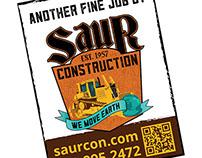 Saur Construction - Signs