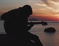 Giro dell'isola sul manico di una chitarra
