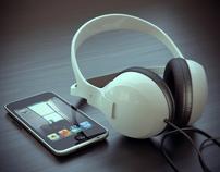 Ipod and Headphones.