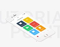 TutorialsPoint App Re-design (Concept)