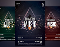 Geometric Music - Free PSD Flyer Template