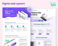 Figma landing pages design kit