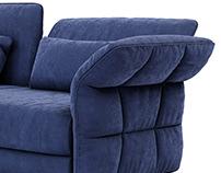 Cierre Eva Due Sofa 3d model