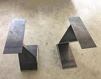 Metal table legs by Inox G-art