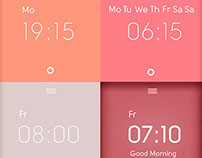 Weekly alarm clock app