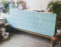 """Counter 'Green tiles"""""""