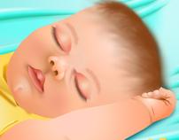 """Is Baby Sleeping?"" Children's book illustrations"
