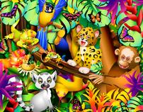 """Rain Festival"" children's book illustrations"