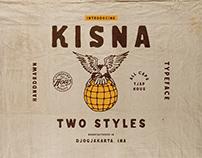 Kisna Handdrawn Typeface