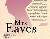 Cartel tipográfico: Mrs Eaves