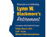 Lynn W. Blackmore's Retirement flyer