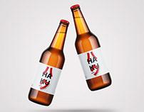 Haku (ハク) Apa Beer Label and Package Design
