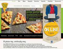 Web Design Template for Pizza Fun