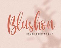 BLUSHON BRUSH SCRIPT