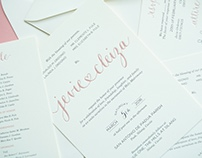 Jevie & Cleiza Wedding Invitation Suite