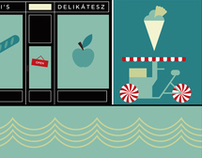 interior graphics for baldaszti's restaurant